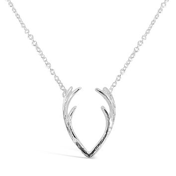 Silver & Gold Animal Inspired Antlers Necklace