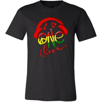 Jamaica One Love Reggae Carribean Music Pride Flag T-shirt
