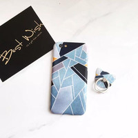 Fashion blue marble phone case for iPhone 7 7plus 6 6S 6plus 6Splus 1109J01