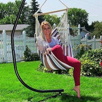 Hanging Hammock Swing Chair Garden Porch Chair 2 Seat Beach Sunrise Swing Chair