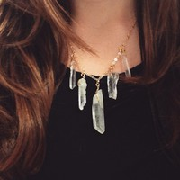 Multi Crystal Necklace from Follow The Sun