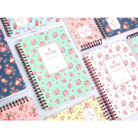 Wanna This Pour vous flower pattern wirebound lined notebook