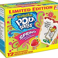 Limited Edition Printed Fun Pop Tarts Spring Frosted Strawberry [Pack of 12]