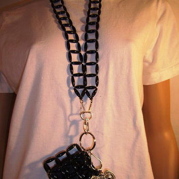 Beaded Pouch, Black, for CellPhone/iPod/Blackberry/iPhone, etc. (PABSQUAR001B) - Made to Order
