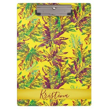 Tropical Leaves Clipboard