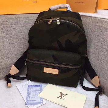 DCCK2 1223 Louis Vuitton LV supreme Apollo Monogram Eclipse Denim camouflage backpack shoulder bag