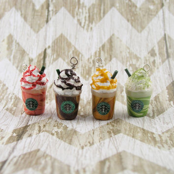 Starbucks Frappuccino Polymer Clay Charm