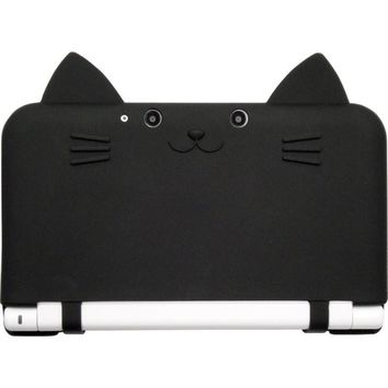 NEW Black Japan Cat Neko Nyan CYBER Nintendo 3DS LL XL Silicon Hard Case Cover