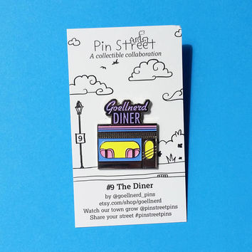 Pin Street Pins Goellnerd Diner Soft Enamel Pin Collector's Edition 50s Diner Pin Retro Vintage Style