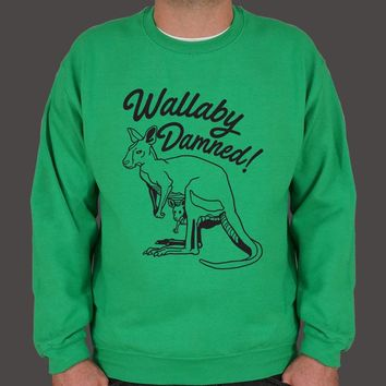Wallaby Damned! Men's Sweater