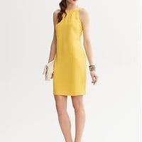 Yellow Halter Dress | Banana Republic