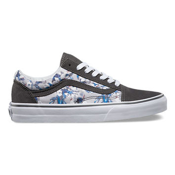 Blurred Floral Old Skool | Shop Womens Shoes at Vans