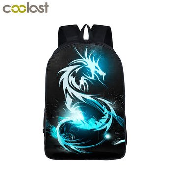 Dinosaur / Magic Dragon Backpack For Teenager Animals Backpacks Kids Schoolbags Boys Girls School Bags Daily Backpack Book Bag