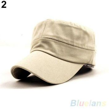 DCCKWJ7 Bluelans Women Men Fashion Summer Adjustable Classic Army Plain Vintage Hat Berets