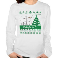 Dog Peeing on Snowman Ugly Christmas Sweater City Tshirt