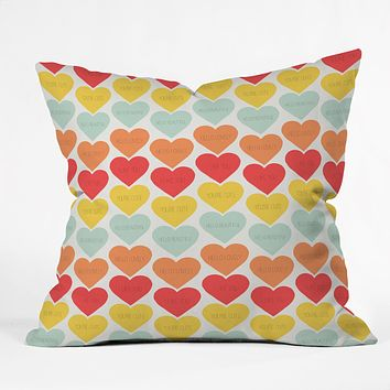 Allyson Johnson Cute Little Hearts Throw Pillow