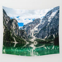 Wall Tapestry, Mountain Tapestry, Wall Hanging,Mountain Lake Trees Nature Wanderlust,Wall Decor, Photo Wall Art, Modern Tapestry, Home Decor