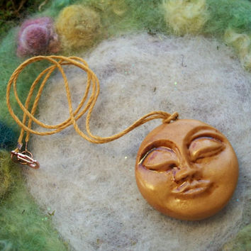 Necklace, Luna Spirit Moon Face, Tranquil, Peaceful