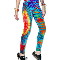 Cali Kind Amoeba Leggings Tie Dye One