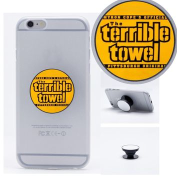 Pittsburgh Steelers Terrible Towel Collapsible Phone Grip Holder Mount Stand Universal