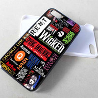 Broadway Musical Collage Wicked iPhone Case And Samsung Galaxy Case