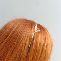 Silver mermaid metal headband or tiara