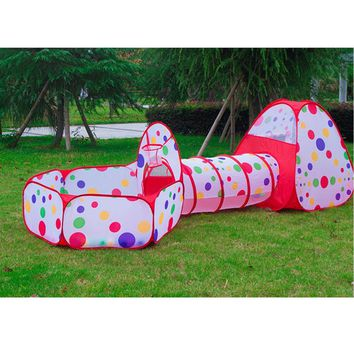 3pcs/set Foldable Kids Toddler Tunnel Pop Up Play Tent Toys For  sc 1 st  Wanelo & Best Playhouse Tent Products on Wanelo