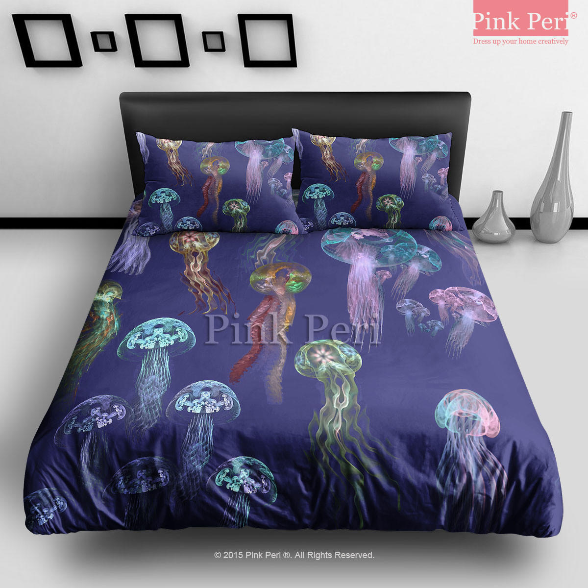 Art Jellyfish In Deep Blue Sea Bedding From Pink Peri