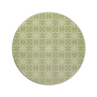 Geometric Floral Pattern in Green Drink Coasters