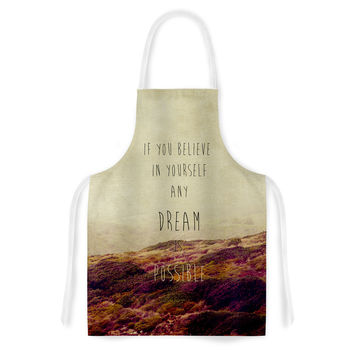 "Ingrid Beddoes ""Believe"" Desert Quote Artistic Apron"
