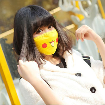 1pc Pokemon Pikachu Cute Face Masks Anti-Dust New Anime Pocket Monster Cosplay Props