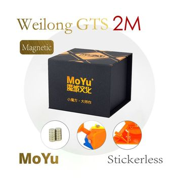 New Arrival of MoYu 3x3x3 Weilong GTS2M Version II Magnetic Magic Cube Plastic Puzzle Speed Cube Weilong GTS 2M