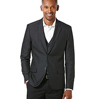 Perry Ellis Jacquard Blazer - Black