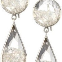 "Moritz Glik ""Kaleidoscope"" 18K White Gold and Floating Small Diamond Earrings"