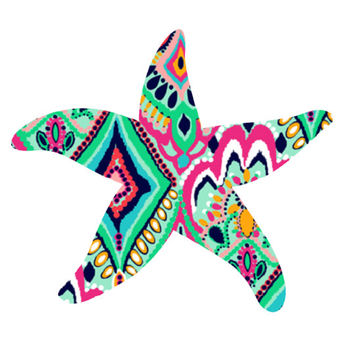 Lilly Pulitzer Starfish Decal