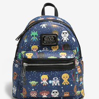 Loungefly Star Wars Chibi Characters Mini Backpack