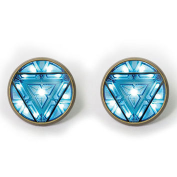 Handmade Iron Man Arc Reactor earrings Iron Man Arc Reactor post earring Iron Man Arc Reactor arrings Jewelry, Gift