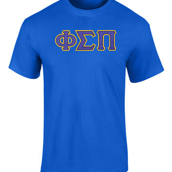 Phi Sigma Pi Twill Letter Tee