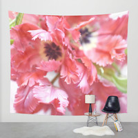Flutter By Tulips Wall Tapestry by Lisa Argyropoulos