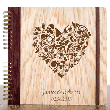 Unique Wedding Guest Book, Wood Wedding Guestbooks, Personalized Guest Book, Rustic Wedding Guest Book, Custom Guest Book, Gift for Bride