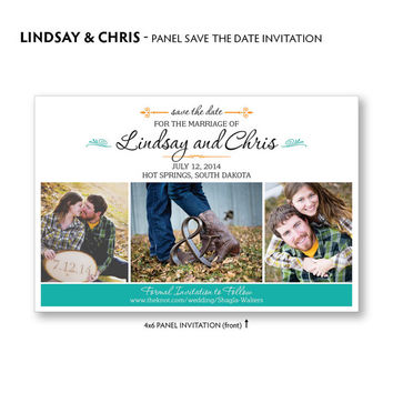 Save the Date Card, Rustic Save the Date Invite, Save the Date Postcard,  DIY Printable Digital File, Custom Colors, Photo