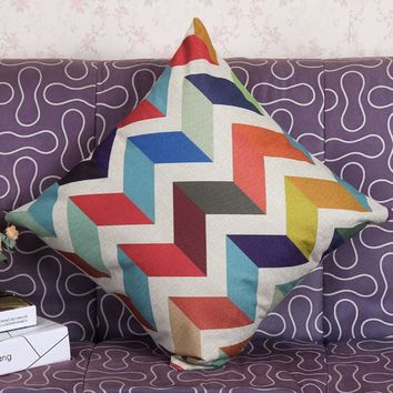 Color Wave shape, decorative pillows for home decor