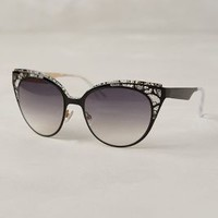 Jimmy Choo Estelle Sunglasses Black One Size Eyewear