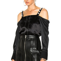 3.1 phillip lim Cold Shoulder Top in Black | FWRD