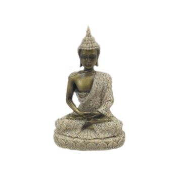 The Hue Sandstone Meditation Buddha Statue Sculpture Hand Carved Figurine Lucky Home Decorations Creative Love Gifts Presents