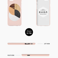 iPhone case - 'Abstract Nature Warm Tones' - iPhone 5s case, iPhone 6s case, iPhone 7+ case, iPhone SE, iPhone 7, non-glossy hard shell C23