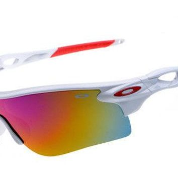 Sunglasses-Polarized-RADARLOCK-PATH888 ⁸Oakley⁸Baseball White/Red Golf Iridium