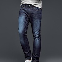 Gap Men 1969 Skinny Fit Jeans Soft Scrape Dark Indigo Wash