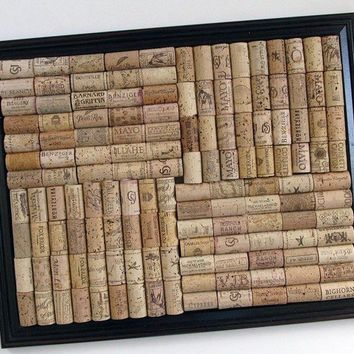 Big Brown Wine Cork Board by LizzieJoeDesigns on Etsy