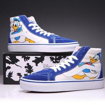 LMFON VANS X Disney SK8-Hi Canvas Ankle Boots Flats Sneakers Sport Shoes